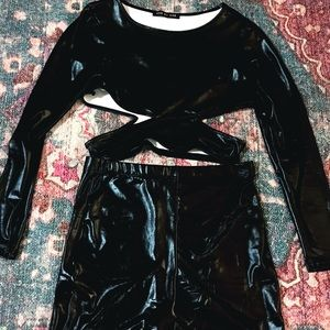 Other - Two Piece Pleather Set